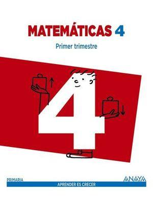 MATEMATICAS 4º EP APRENDER ES CRECER ED. 2015