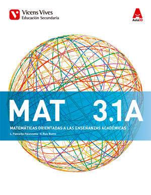 MATEMATICAS 3º ESO ACADEMICAS AULA 3D ED. 2015