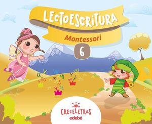 LECTOESCRITURA 6 PAUTA MONTESSORI CRECELETRAS ED. 2017