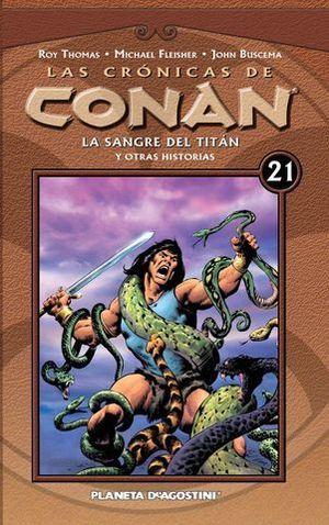 LAS CRONICAS DE CONAN Nº 21 LA SANGRE DEL TITAN