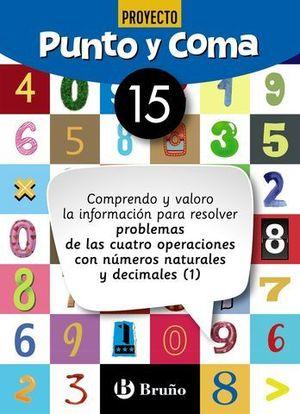 CUADERNO DE MATEMATICAS PUNTO Y COMA Nº 15
