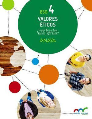 VALORES ETICOS 4º ESO APRENDER ES CRECER ED. 2016