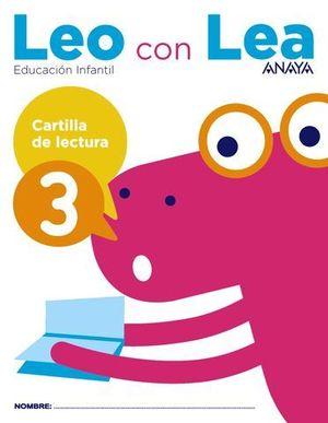 LEO CON LEA 3 CARTILLA DE LECTURA  ED. 2017