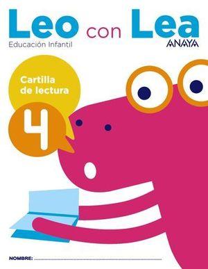 LEO CON LEA 4 CARTILLA DE LECTURA  ED. 2017