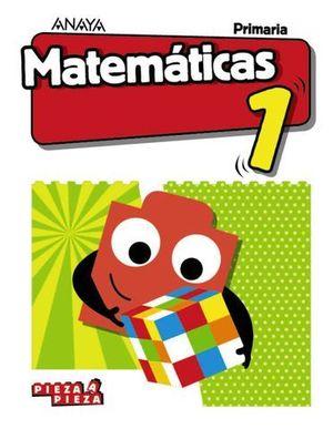 MATEMATICAS 1º EP PIEZA A PIEZA ED. 2018