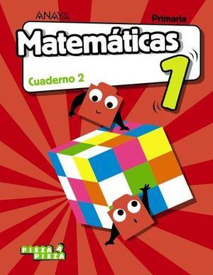 CUADERNO MATEMATICAS 1º EP  2º TRIMESTRE PIEZA A PIEZA ED. 2018
