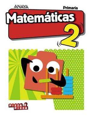 MATEMATICAS 2º EP PIEZA A PIEZA ED. 2018