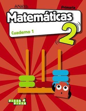 CUADERNO MATEMATICAS 2º EP  1º TRIMESTRE PIEZA A PIEZA ED. 2018