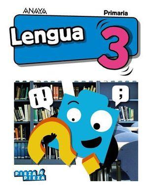 LENGUA 3º EP PIEZA A PIEZA ED. 2018