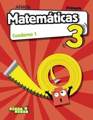 CUADERNO MATEMATICAS 3º EP  1º TRIMESTRE PIEZA A PIEZA ED. 2018