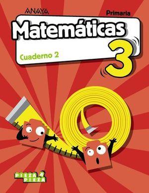 CUADERNO MATEMATICAS 3º EP  2º TRIMESTRE PIEZA A PIEZA ED. 2018
