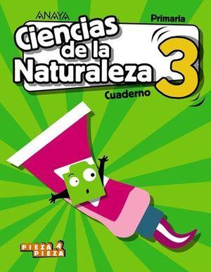 CUADERNO CIENCIAS NATURALEZA 3º EP PIEZA A PIEZA ED. 2018