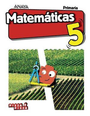 MATEMATICAS 5º EP PIEZA A PIEZA ED. 2018