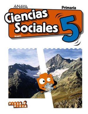 CIENCIAS SOCIALES 5º EP PIEZA A PIEZA ED. 2018