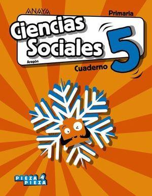 CUADERNO CIENCIAS SOCIALES 5º EP PIEZA A PIEZA ED. 2018