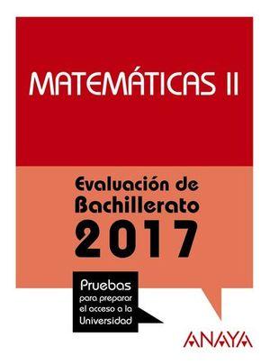 SELECTIVIDAD 2017 MATEMATICAS II