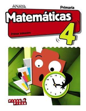 MATEMATICAS 4º EP PIEZA A PIEZA ED. 2019