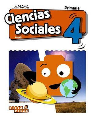 CIENCIAS SOCIALES 4º EP ARAGON PIEZA A PIEZA ED. 2019
