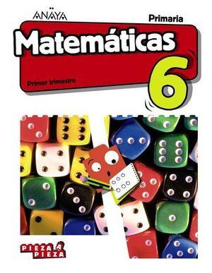 MATEMATICAS 6º EP PIEZA A PIEZA ED. 2019