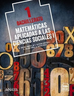 MATEMATICAS 1º BACHILLER APLICADAS CC.SS. SUMA DE PIEZAS ED. 2020