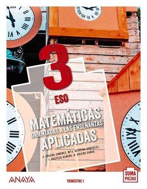 MATEMATICAS 3º ESO APLICADAS SUMA DE PIEZAS ED. 2020