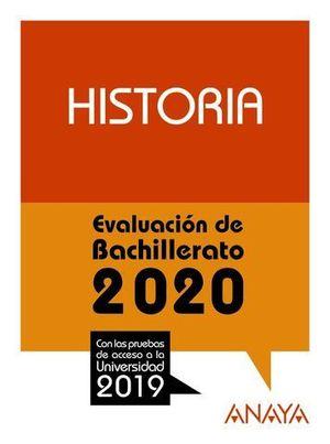 SELECTIVIDAD 2019 HISTORIA.  EVAU 2020