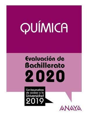 SELECTIVIDAD 2019 QUIMICA.  EVAU 2020