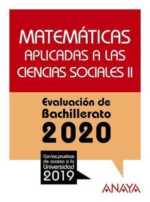 SELECTIVIDAD 2019 MATEMATICAS II APLICADAS CC.SS.  EVAU 2020