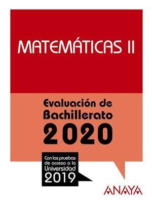 SELECTIVIDAD 2019 MATEMATICAS II.  EVAU 2020
