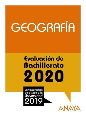SELECTIVIDAD 2019 GEOGRAFIA.  EVAU 2020