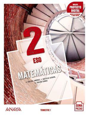 MATEMÁTICAS 2º ESO TRIMESTRAL SUMA PIEZAS ED. 2021