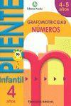 CUADERNO PUENTE INFANTIL NUMEROS 4 AÑOS