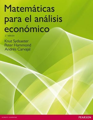MATEMATICAS PARA EL ANALISIS ECONOMICO  2ª EDICION