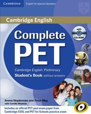COMPLETE PET STUDENT´S BOOK WITHOUT ANSWERS