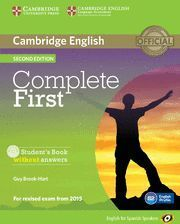 COMPLETE FIRST STUDENT´S BOOK WITHOUT ANSWERS 2ª ED.