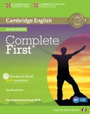 COMPLETE FIRST STUDENT´ BOOK WITH ANSWERS 2ª ED. 2015
