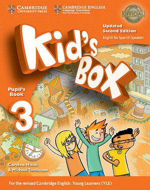 KID´S BOX 3 FOR SPANISH SPEAKERS 2ª ED. PUPIL´S BOOK  ED. 2017