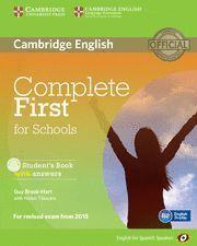 COMPLETE FIRST FOR SCHOOLS STUDENT´S BOOK WITH ANSWERS