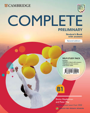 COMPLETE PRELIMINARY B1 PACK SB+WB WITH CLASS AUDIO SELF STUDY 2020