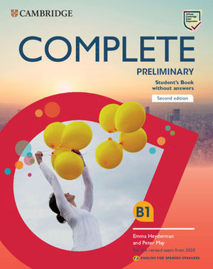 COMPLETE PRELIMINARY 2ª ED STUDENT´S BOOK WITHOUT ANSWERS 2019