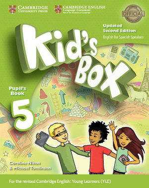 KID´S BOX 5 FOR SPANISH SPEAKERS 2ª ED. PUPIL´S BOOK  ED. 2017