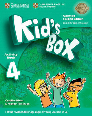 KID´S BOX 4 FOR SPANISH SPEAKERS 2ª ED. ACTIVITY BOOK  ED. 2017
