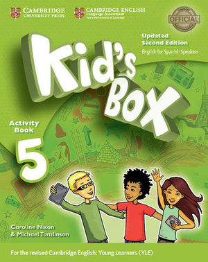 KID´S BOX 5 FOR SPANISH SPEAKERS 2ª ED. ACTIVITY BOOK  ED. 2017