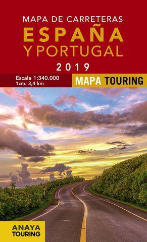 MAPA DE CARRETERAS DE ESPAÑA Y PORTUGAL 2019