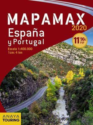MAPAMAX - 2020.  ESPAÑA Y PORTUGAL  ( ESCALA 1:400.000 )