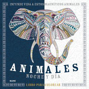 ANIMALES NOCHE Y DIA LIBRO PARA COLOREAR