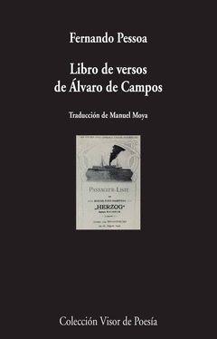 LIBRO DE VERSOS DE ALVARO CAMPOS