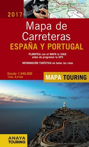 MAPA DE CARRETERAS ESPAÑA Y PORTUGAL 2017