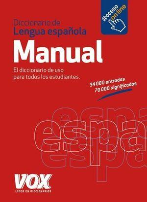 DICCIONARIO VOX LENGUA ESPAÑOLA MANUAL ED. 2013