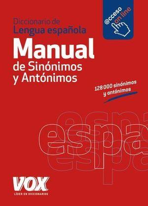 DICCIONARIO VOX MANUAL DE SINONIMOS Y ANTONIMOS ED. 2014